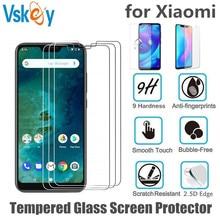 VSKEY 100 chiếc 2.5D Kính Cường Lực cho Xiaomi Redmi Note 7 Pro Redmi 6A 5A 4X 4A Tấm Bảo Vệ Màn Hình Chống chống trầy xước, Bộ Phim