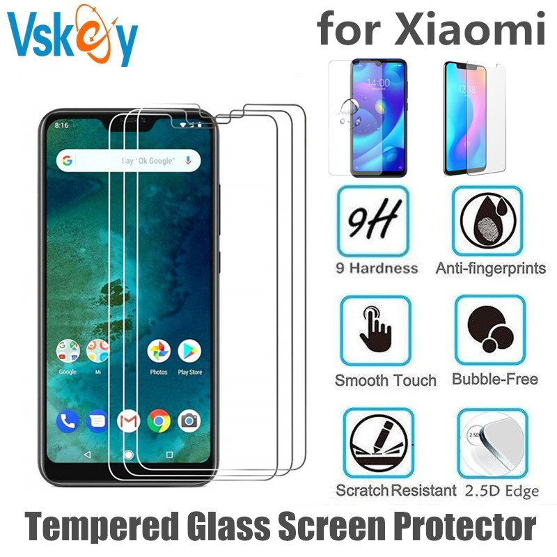 VSKEY 100pcs 2.5D Tempered Glass for Xiaomi Redmi Note 7 Pro Redmi 6A 5A 4X 4A Screen Protector Anti Scratch Protective Film-in Phone Screen Protectors from Cellphones & Telecommunications