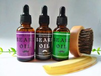Natural Organic Beard Oil 3 Pack Boxed Gift Set BEST DEAL Leave In Conditioner For Groomed
