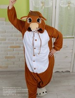 NEW Animal Jumpsuit Pajamas Brown Donkey Animal Onesies Japan Kigurumi Cosplay Costume Pyjamas