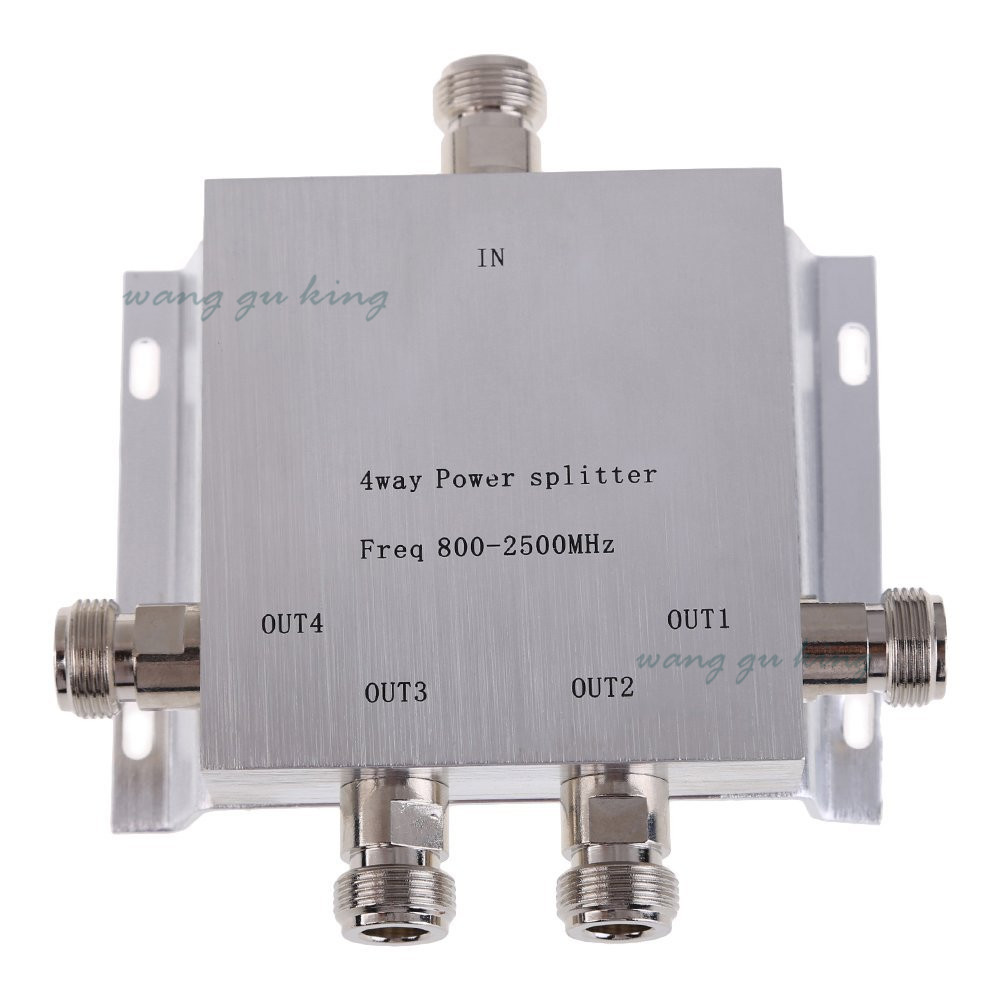4-Way N Female Power Divider Splitter 800-2500MHz For GSM CDMA 2G 3G PCS Booster Signal Booster Repeater Divider