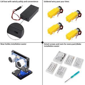 Image 3 - LAFVIN חכם רובוט רכב ערכת כולל R3 לוח, קולי חיישן, Bluetooth מודול לarduino UNO עם הדרכה