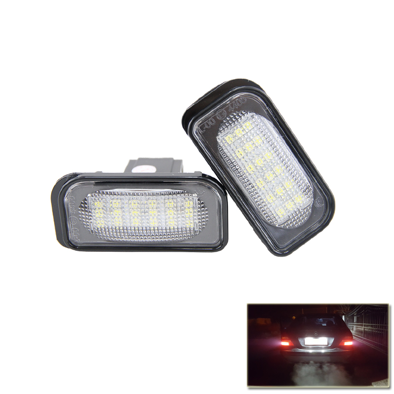 2x 18-SMD LED License Plate Lights for Mercedes Benz C-Class W203 Sedan SL-Class R230 CLK-Class W209 C209 A209 Car-Styling eunavi 2 din 9 android 7 1 car radio stereo gps for mercedes benz c class w203 s203 c180 c200 clk class c209 w209 c208 w208