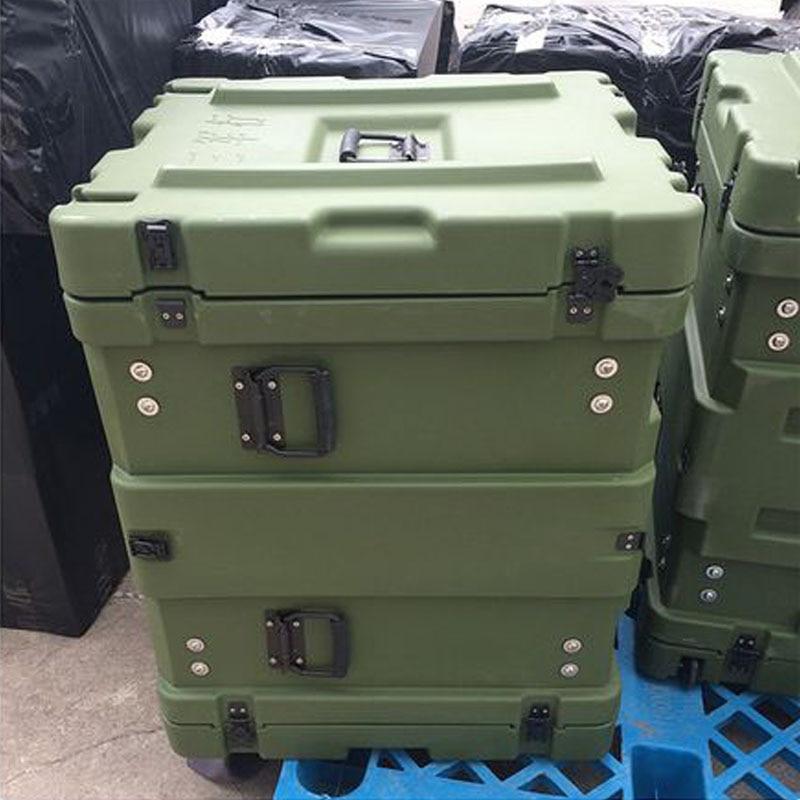 Tricases Shanghai Factory IP65 Waterproof Shockproof Rotational Mould 10U Rack Case RU100 For Computer Server