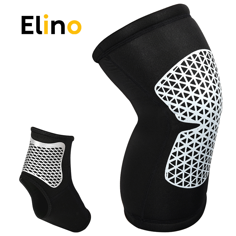Elino Compression Knee Sleeve Ankle Leg Protector Elastic Brace Support Sock Sports Foot Care Ankle Sock Knee Pad For Men Women
