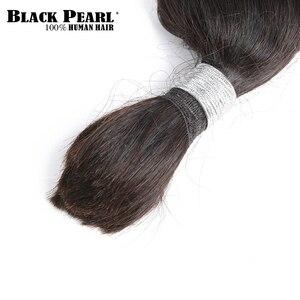 Image 4 - Black Pearl Pre Colored Remy Loose Wave Human Hair Bundles Brazilian Hair Bulk 1 Bundle Braiding Hair Extension Braids Hair Deal