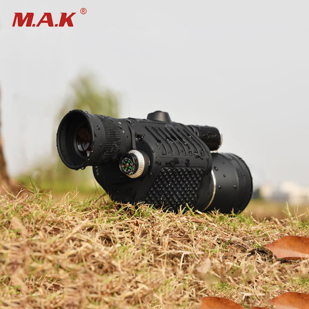 Black 8X40 Monocular Life Waterproof with Compass and Flashlight Central adjustment Telescope for Tourism Sightseeing Outdoor ranbir singh and amarjit singh status of haryana tourism