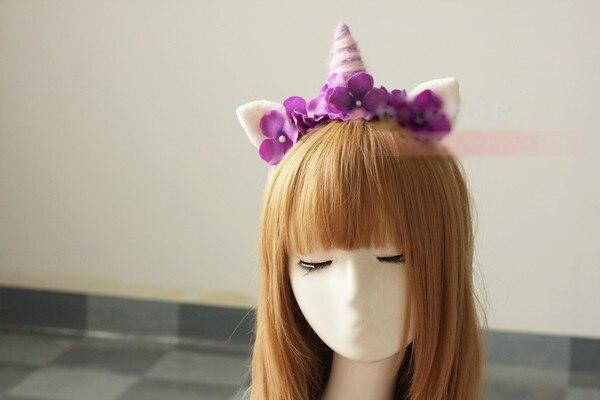 Harajuku estilo japonés dulce Lolita hechos a mano del aro del pelo sueño rosado y púrpura