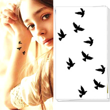 M-Theory Temporary Tattoos Body Art, Flying Little Birds , Flash Tatoos Sticker 10.5x6cm Swimsuit Bikini Dress Makeup