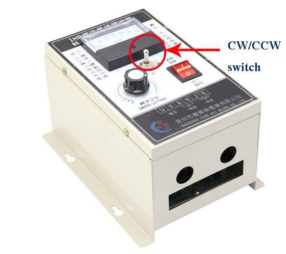 Controlador de velocidade de controle duplo do motor do regulador cw ccw do motor 1hp do controlador de velocidade da c.c. de 750 w 220 v