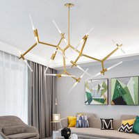 Customizied Post Modern Nordic Herringbone Contemporary Pendant Light Living Room Dining Room LED Dimmable G9 Bulb Hanging Lamps