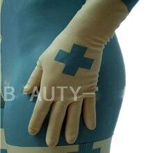 Латексные перчатки для женщин Фетиш сексуальные клиник размера плюс настраиваемый натуральный ручной работы