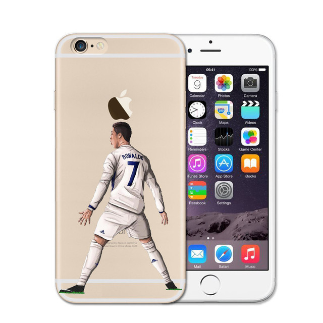 Clear Soft Soccer Cases For iPhone 6/7/8, 5/6s, 6/7/8 Plus