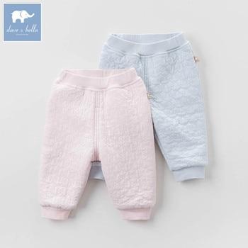 DB5552 dave bella autumn baby unisex sleepwear boys underwear girls pajamas trousers children soft under pants number