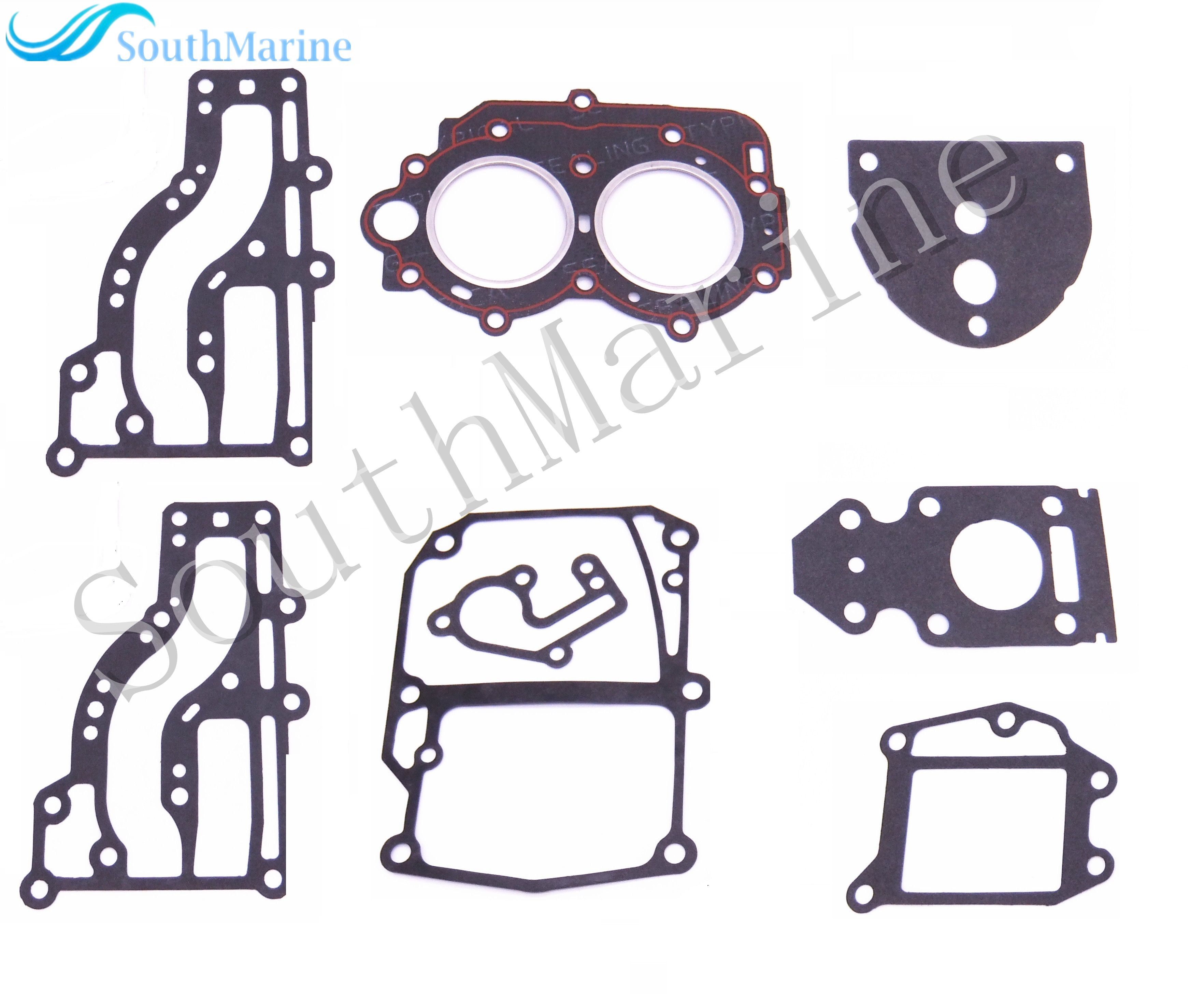 Complete Power Head Seal Gasket Kit Outboard Engine for Yamaha 9.9hp 15hp 63V Boat Motor Free Shipping 67h 43880 00 new tilt trim motor for yamaha 115 225 hp 1997 2002 outboard engine power motor 64e 43880