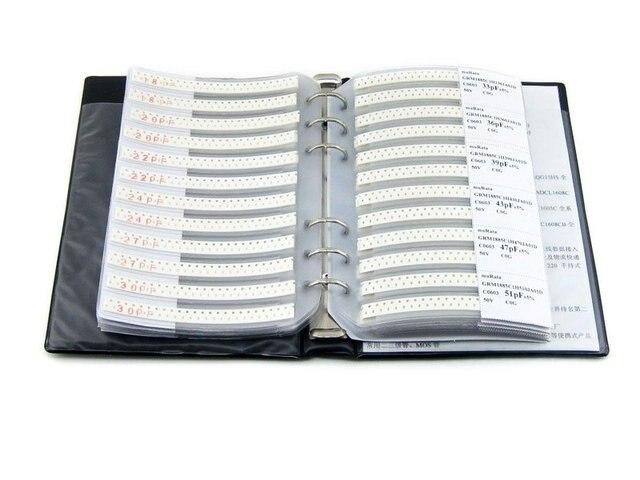 C0603 0603 серии muRata SMD конденсатор 90 Типы 4500 шт. всего 5% Терпимости Электронных Компонентов Книга Образца