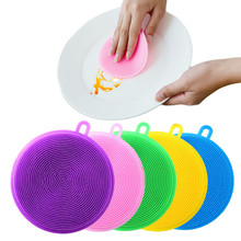 Cepillo de limpieza de silicona esponja lavavajillas, cubertería para cocina, multifuncional, utensilios de cocina