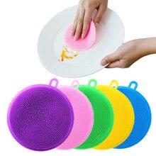 실리콘 청소 브러쉬 Dishwashing 스폰지 다기능 과일 야채 칼 붙이 주방 브러쉬 주방 도구