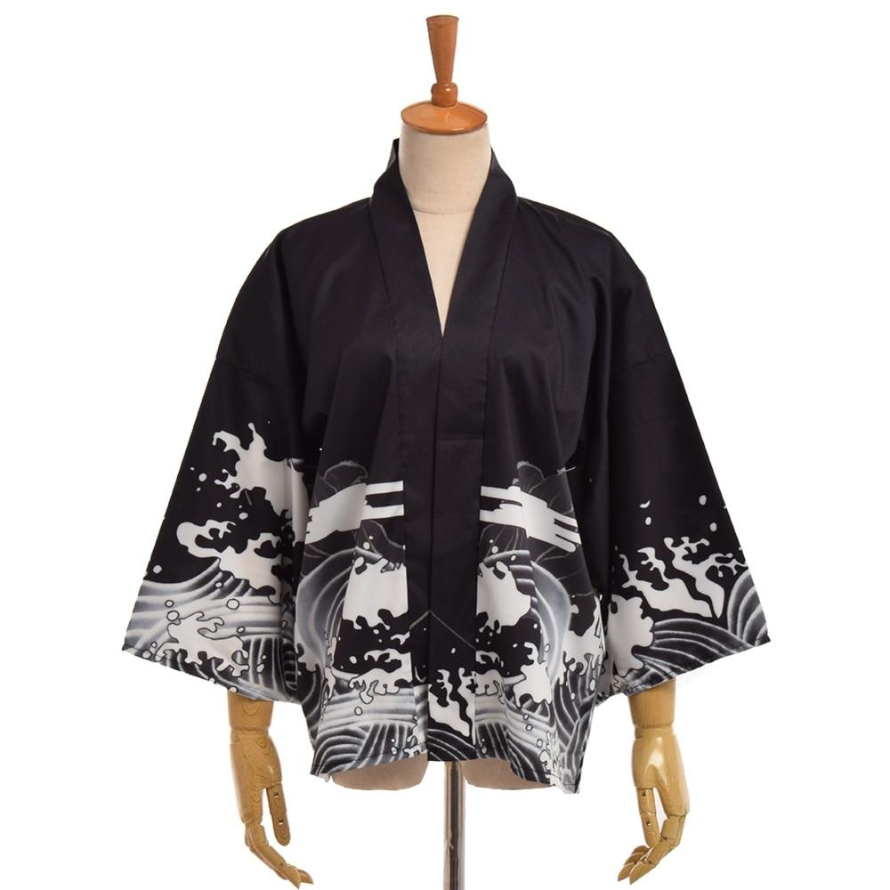 Femme Coton Peignoir Haori Summer Style Japonais nœud Kimono Yukata