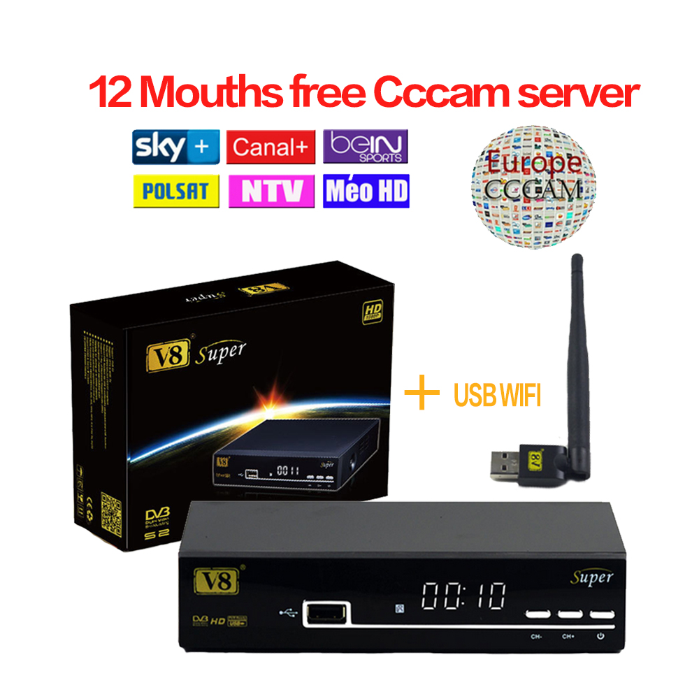 freesat v8 super receptor satellite 1 year cccam cline europe cccam server hd dvb s2 satellite. Black Bedroom Furniture Sets. Home Design Ideas