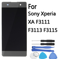 Hot Sale Black LCD Display Touch Screen Digitizer Display Assembly Complate for Sony for Xperia XA XPXA F3111 F3113 F3115