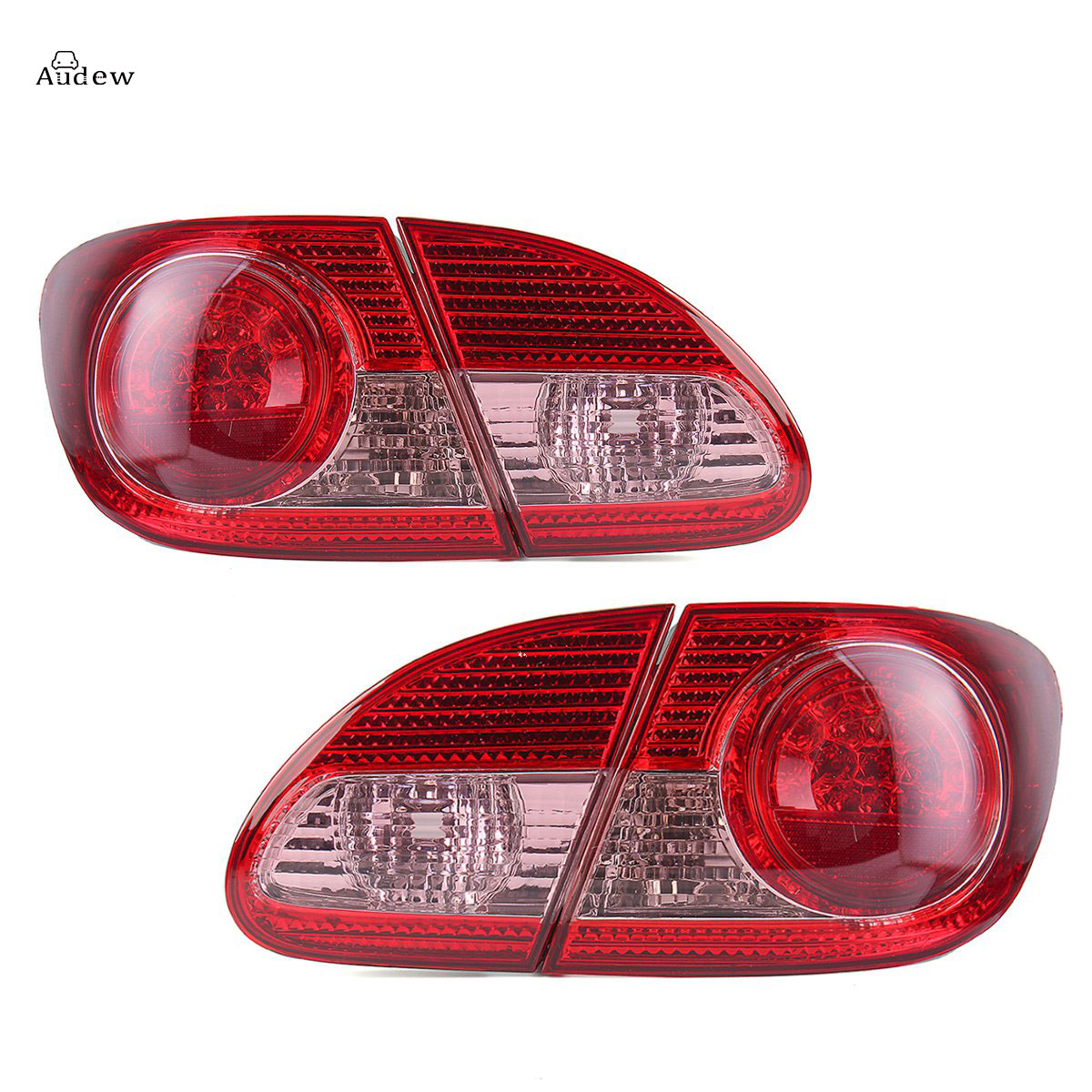 1 Pair Turn Signal Light Fog Lights Rear Bumper Rear Red Brake Tail Light for Toyota Corolla 2003-2008 #TO2800144 TO2801144 toyota rear brake pads 04466 02181 for auris blade corolla