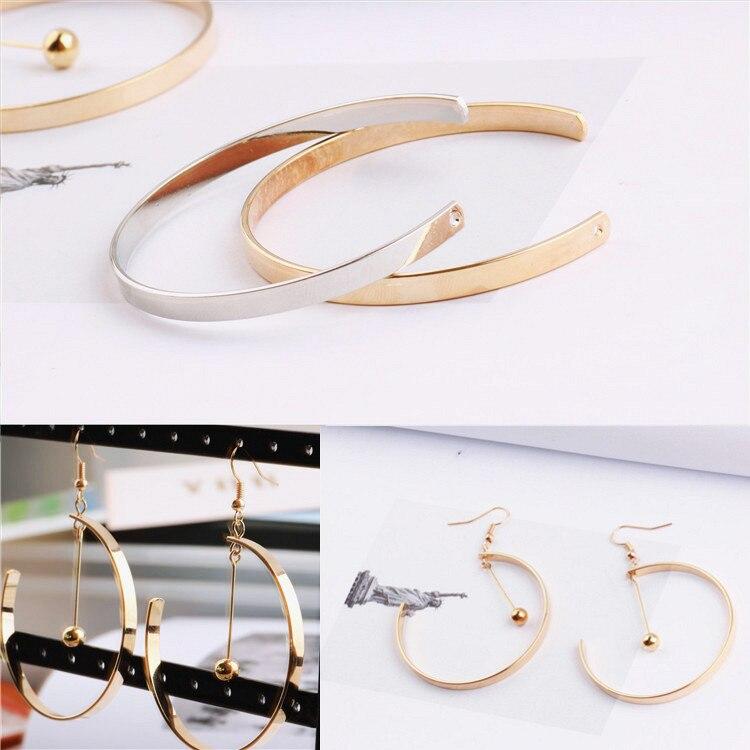 Copper C Shaped Pendant, Pendant, Ear Pendant, Ear Earring, Earring, Ear Hook, DIY Handmade Jewelry, Ear Accessories