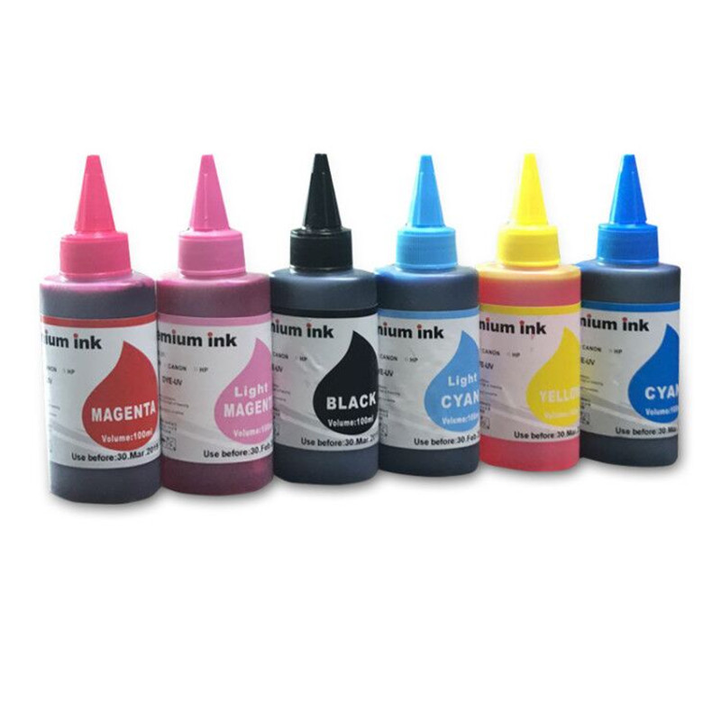 6X100ML BK C M Y LC LM T0821N refillable Dye <font><b>ink</b></font> For <font><b>Epson</b></font> Stylus Photo <font><b>R270</b></font> R390 TX650 T50 T59 RX590 TX700W TX800W T50 TX720 image