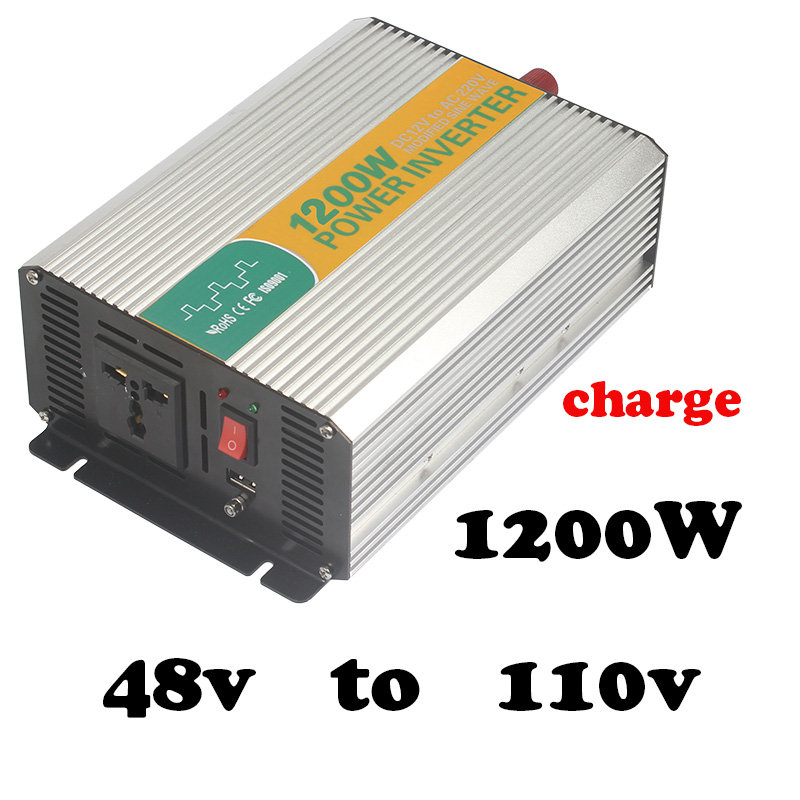 Us 120 12 1200w 48v To 110v Charge Power Inverters For Camping High Power Inverter For Sal Modified Sine Safe Power Inverter Dc Ac 48v In Inverters
