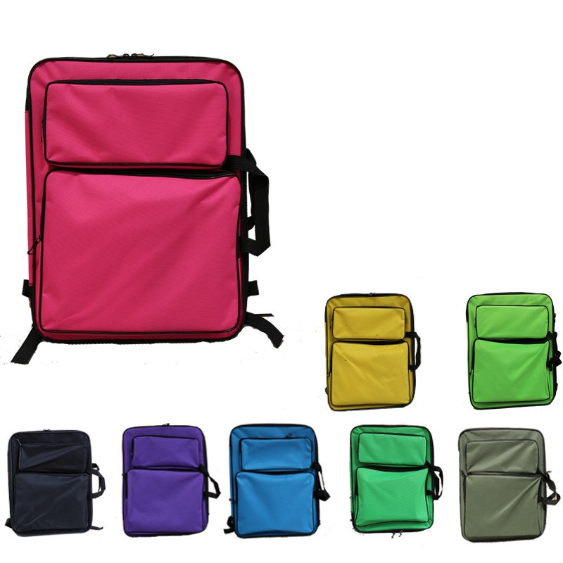50*37cm Cute Portable 8K Multifunction Canvas Sketchpad Bag Drawing Sketch Board Case Painting Bag Backpack Travel Art Set