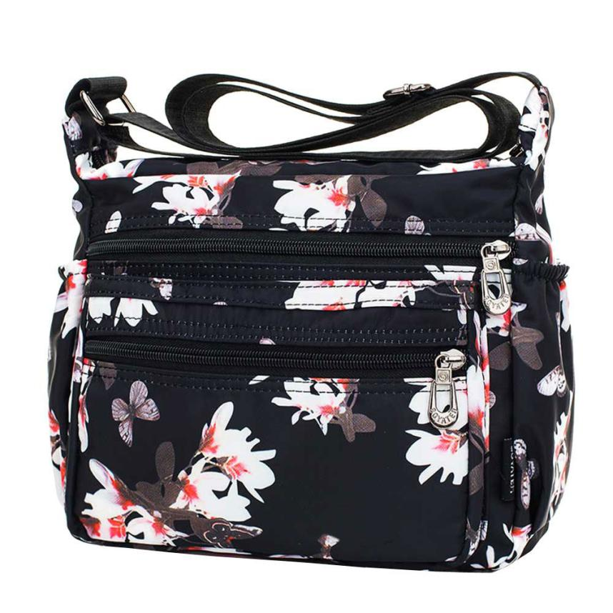 MOLAVE Shoulder Bags new High Quality Oxford Casual Waterproof Floral Print women shoulder bags crossbody bag jan17