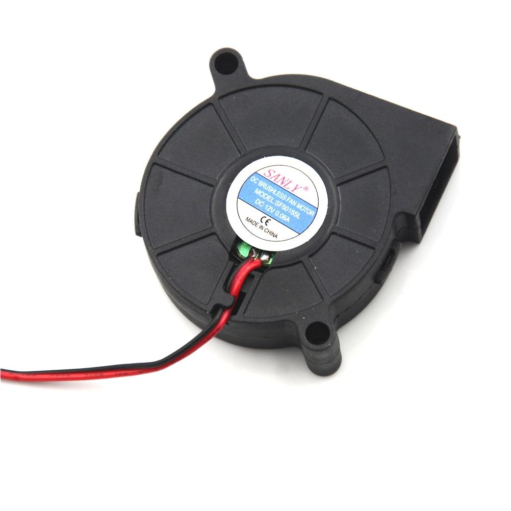 1Pcs DC12V 0.06A Cooling Turbine Blower Fan SF5015SL Snail Fan Silent Blower For Heater Dedicated 50*50*15mm