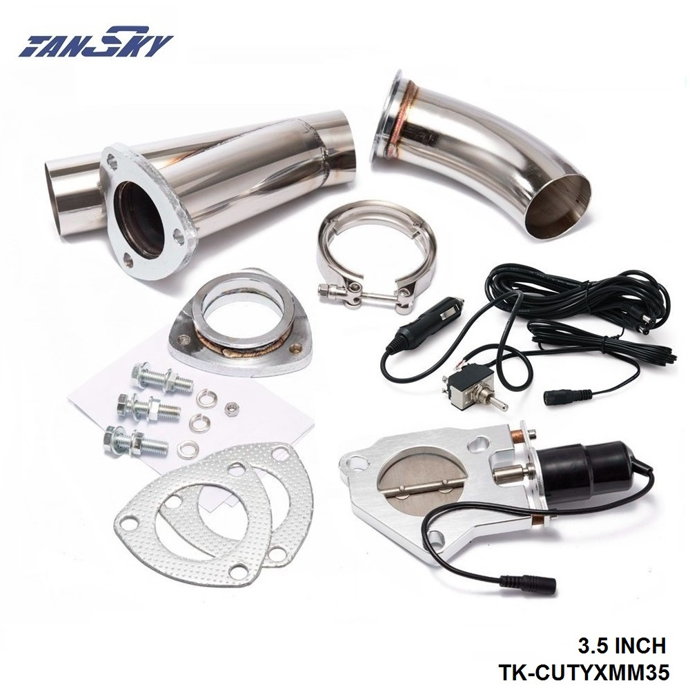 hight resolution of 3 5 electric cutout valve system w o switch for exhaust catback downpipe for