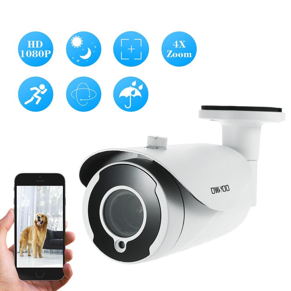 OWSOO AHD Camera 1080P 2 8 12mm Auto focus Video Surveillance Camera Night Vision CCTV Camera