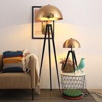 Постмодерн дизайнер торшер металлические гальванические Грибная голова дома Decco стоячие лампы для гостиной спальни прикроватная лампа