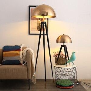 Image 1 - Lámpara de pie de diseño posmoderno para el hogar, cabeza de seta galvanizada de Metal, para sala de estar, lámpara de noche para dormitorio