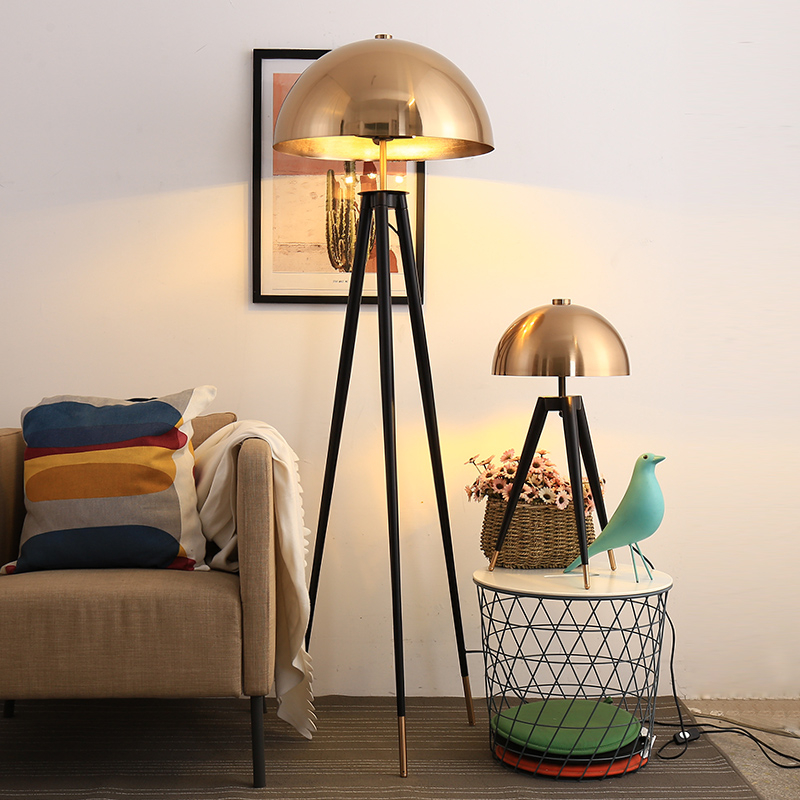 Lampadaire design postmoderne métal galvanoplastie tête de champignon maison Decco lampes sur pied pour salon chambre lampe de chevet