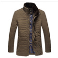 Father Down Parkas Winter Cotton Padded Jackets And Coats 2016 New Men Casual Warm Down Cotton Jacket Outerwear Plus Size 4XL