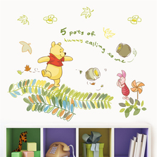 40*60cm disney winnie pooh wall decals bedroom home decor cartoon animals stickers diy mural art pvc wallpaper
