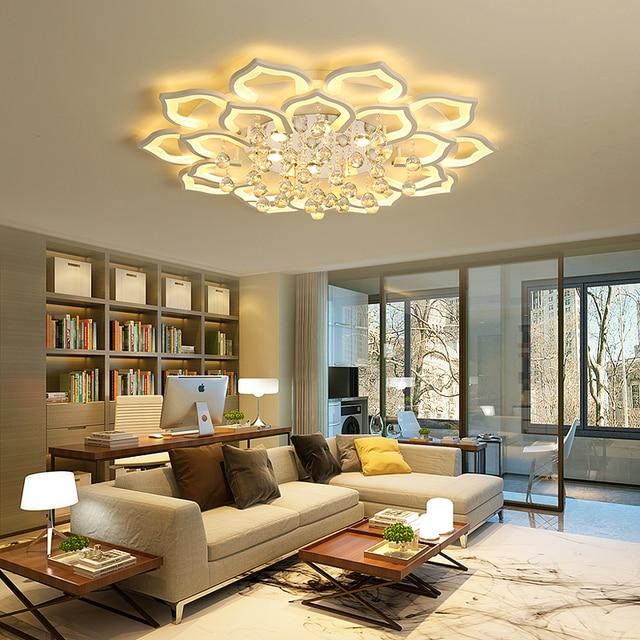 Acrílico moderno led luces de techo para sala comedor lámpara de ...