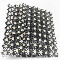 10 piezas de alta potencia 1 W 3 W blanco frío/cálido 3500 K 6500 K 15000 K 20000 k luz de diodos de cristal con Chip de bombilla LED de 30000 k con estrella de 20mm
