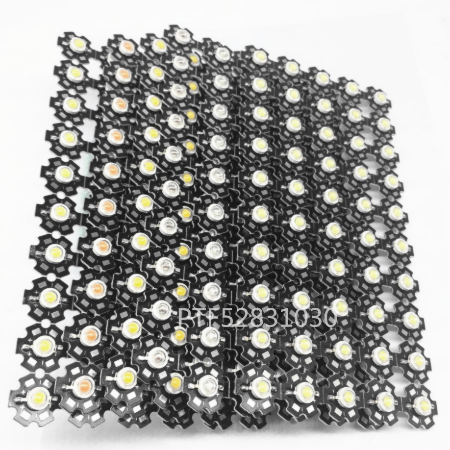 10pcs High Power 1W 3W Cool / Warm White 3500K 6500K 15000K 20000k 30000k LED Bulb Chip Crystal Diodes Light With 20mm AL Star