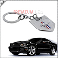 (1) Chrome Finish Pony Horse Key Chain Fob Ring Keychain For Mustang GT 500 Cobra