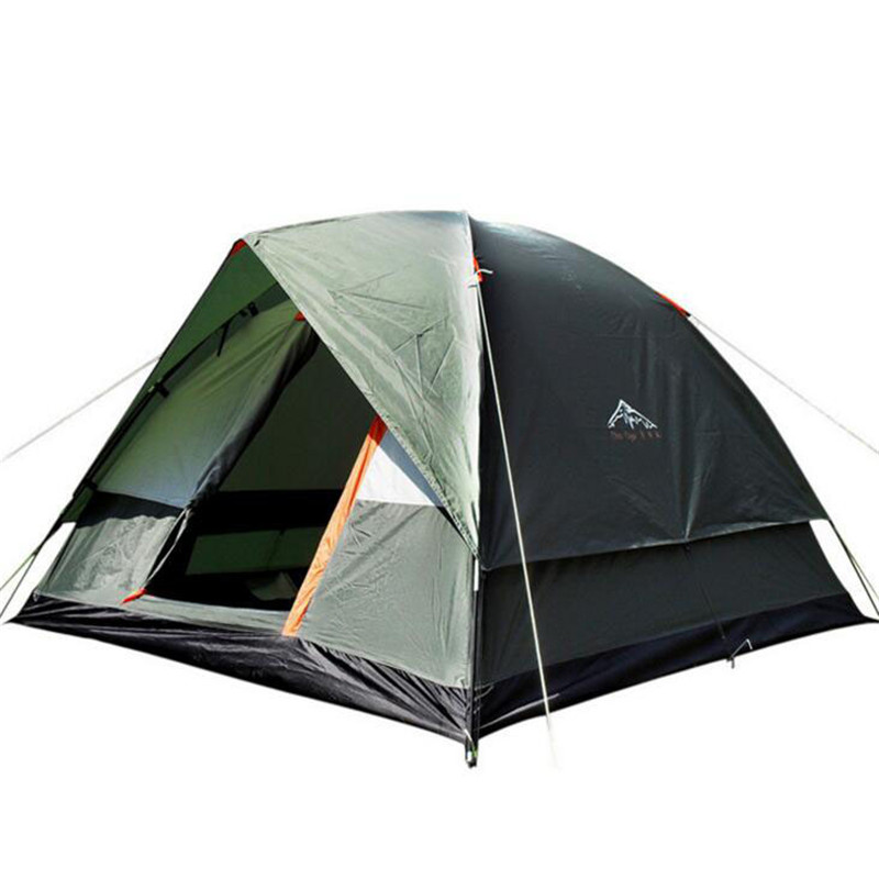4 Person Large Family Tent Double Layer Automatic Tourist Tent Camping Beach Tent barraca de acampamento UV Waterproof Tente цены