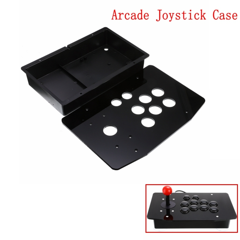 Acrylic Panel Case Replacement DIY Clear Black Arcade Joystick Handle Arcade Game Kit Sturdy Construction Easy To Install(China)