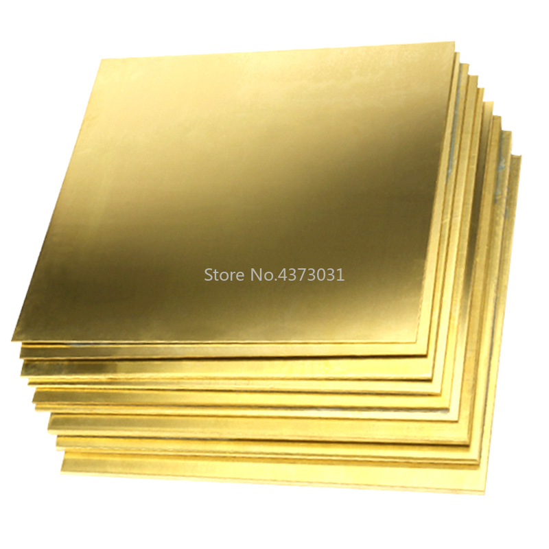 200*200mm Brass Copper Plate Sheet DIY Laser Cutting CNC Frame Model Mould Material DIY Contruction