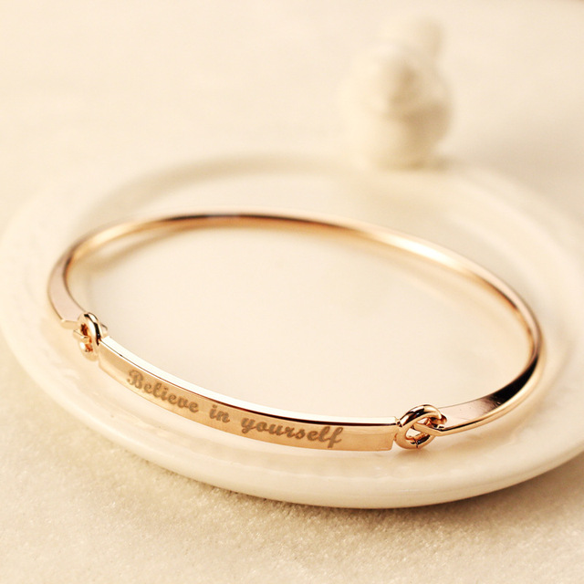 Fashion believe in yourself encourage letters bracelets for women fashion believe in yourself encourage letters bracelets for women jewelry charm cuff bangle valentines day bileklik solutioingenieria Images
