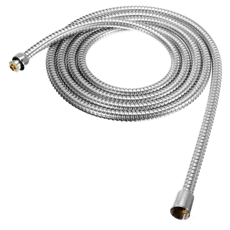 Stainless Steel 3Meter Shower Hose Soft Shower Pipe Flexible Bathroom water pipe Silver color common Plumbing Hoses stainless steel contemporary style shower water hose silver 1 5m