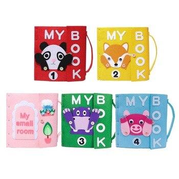 7 estilos de libros educativos para niños, libros de tela de fieltro silencioso DIY, libros de Material de fieltro para aprendizaje cognitivo temprano del bebé