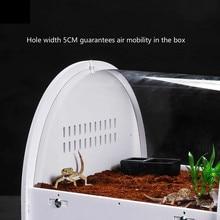Space capsule reptile box curved terrarium lizard chameleon spider snake horn frog tortoise locust heating incubator AP11261517
